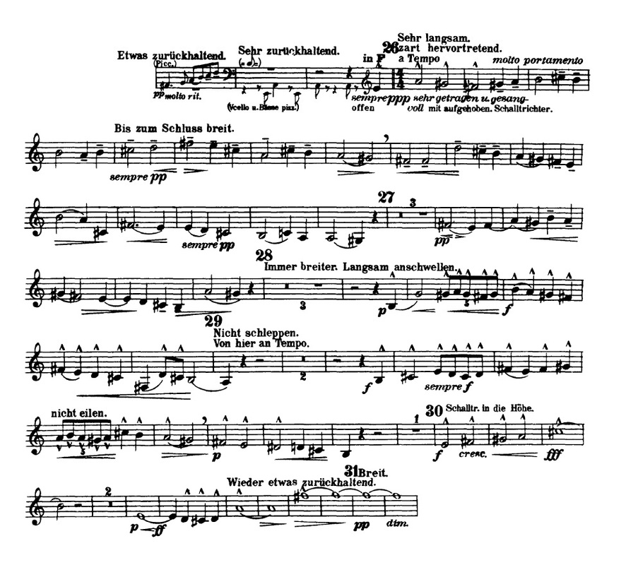 All Music Chords rachmaninoff sheet music : Symphony No. 3 in D minor - Trumpet Excerpts